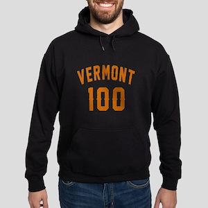 Vermont 100 Birthday Designs Hoodie (dark)