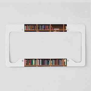 Bookshelf License Plate Holder