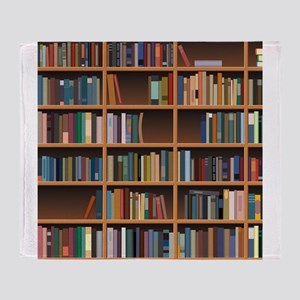 Bookshelf Throw Blanket