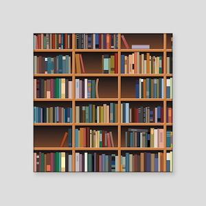 Bookshelf Square Sticker 3