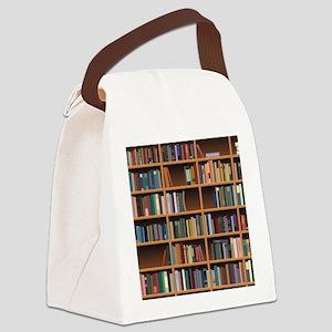 Bookshelf Canvas Lunch Bag