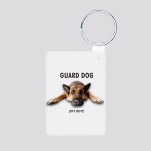Guard Dog Aluminum Photo Keychain
