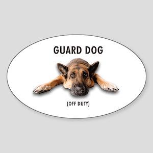 Guard Dog Sticker (Oval)