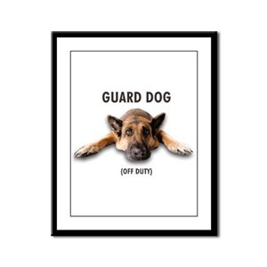 Guard Dog Framed Panel Print