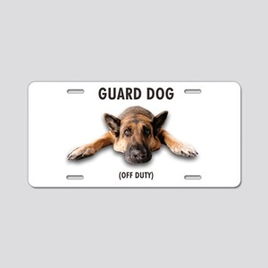 Guard Dog Aluminum License Plate