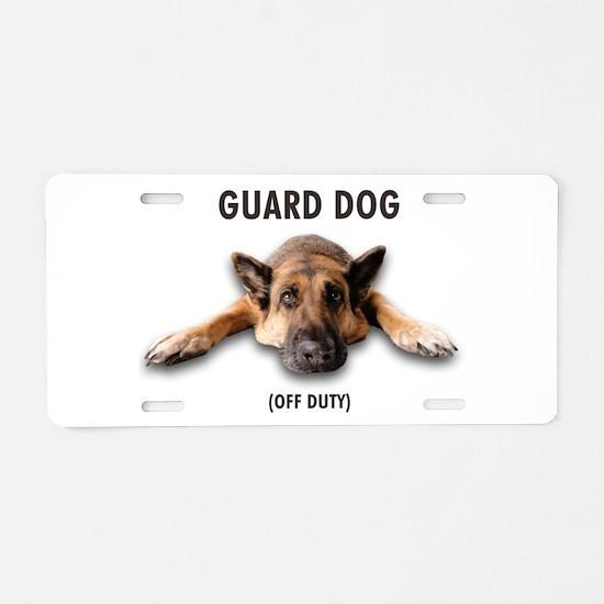Guard Dog Aluminum License Plate