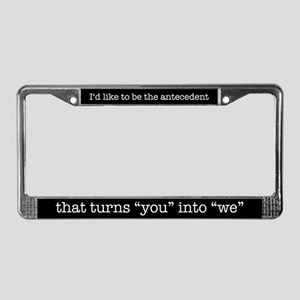 Antecedent lover License Plate Frame