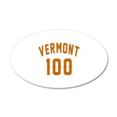 Vermont 100 Birthday Designs Wall Decal