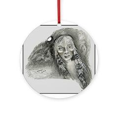 Hidden Images Round Ornament