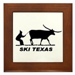 Ski Texas Framed Tile