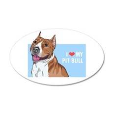 I Love My Pit Bull Wall Decal