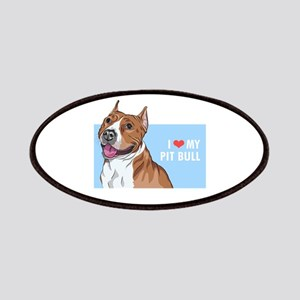 I Love My Pit Bull Patches