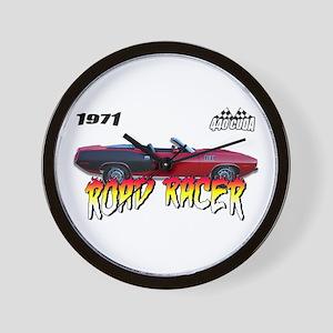 1971 Cuda - Road Racer Wall Clock