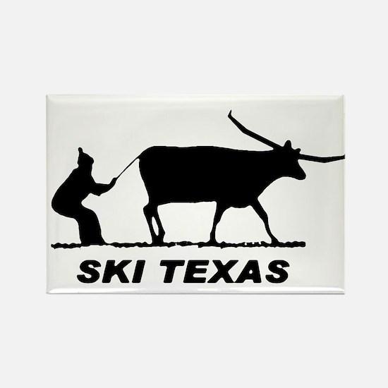 Ski Texas Rectangle Magnet
