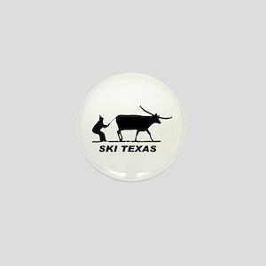 Ski Texas Mini Button