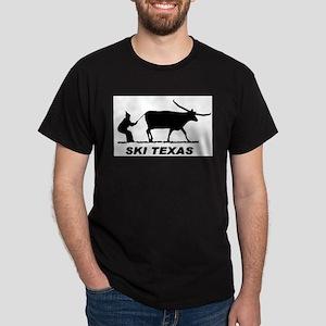 Ski Texas Black T-Shirt