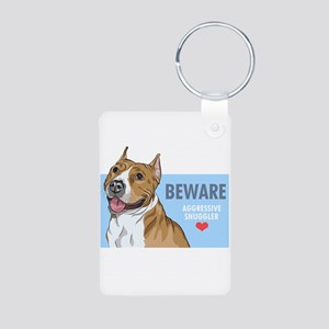 Aggressive Snuggler Aluminum Photo Keychain