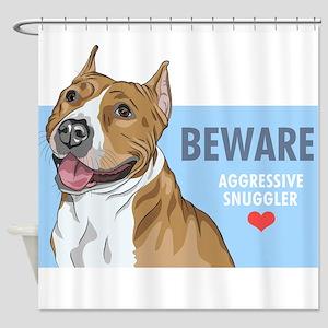 Aggressive Snuggler Shower Curtain