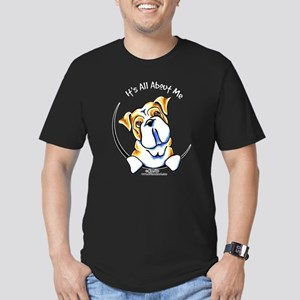 English Bulldog IAAM Men's Fitted T-Shirt (dark)