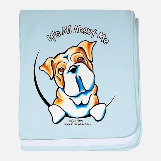 English Bulldog IAAM baby blanket