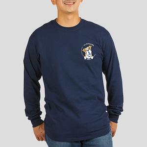 Pocket Bulldog IAAM Long Sleeve Dark T-Shirt