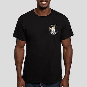 Pocket Bulldog IAAM Men's Fitted T-Shirt (dark)