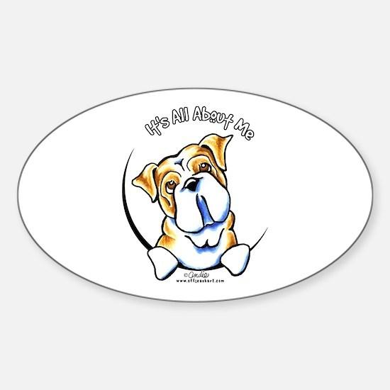 English Bulldog IAAM Sticker (Oval)