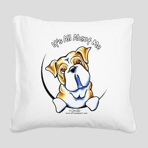 English Bulldog IAAM Square Canvas Pillow