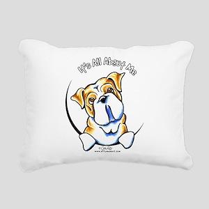English Bulldog IAAM Rectangular Canvas Pillow