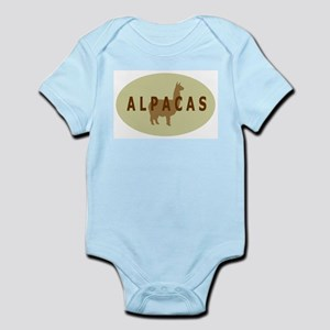 alpacas gifts & t's (sage/br) Infant Creeper