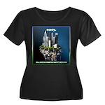 easy Women's Plus Size Scoop Neck Dark T-Shirt