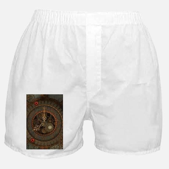 Steampunk, clockswork in rusty metal Boxer Shorts