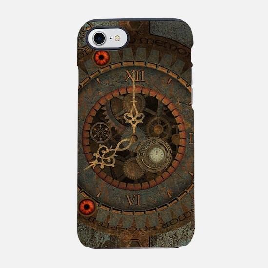 Steampunk, clockswork in rusty metal iPhone 7 Toug