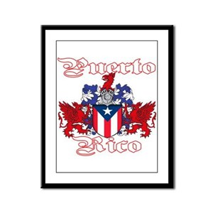 Puerto Rico Framed Panel Print