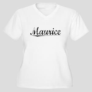 Maurice, Vintage Women's Plus Size V-Neck T-Shirt