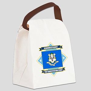 Connecticut diamond Canvas Lunch Bag
