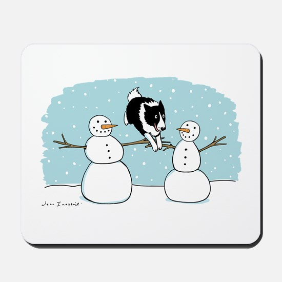 Border Collie Holiday Mousepad