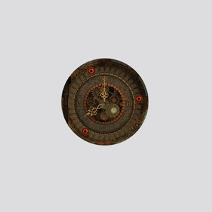 Steampunk, clockswork in rusty metal Mini Button