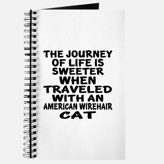 Traveled With american wirehair Cat Journal