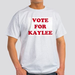 VOTE FOR KAYLEE  Ash Grey T-Shirt