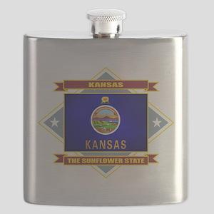 Kansas diamond Flask