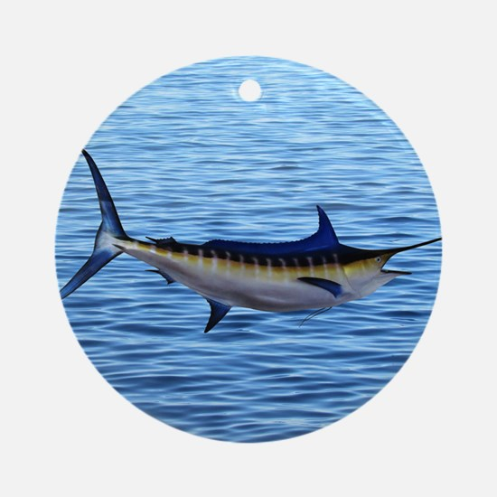 Blue Marlin on Water Ornament (Round)