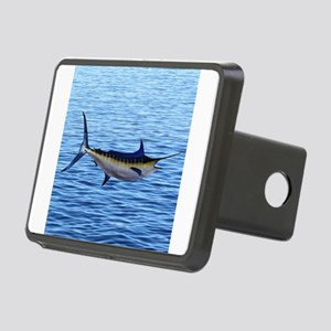 Blue Marlin on Water Rectangular Hitch Cover