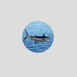 Blue Marlin on Water Mini Button