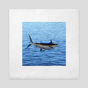Blue Marlin on Water Queen Duvet