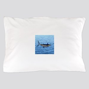 Blue Marlin on Water Pillow Case