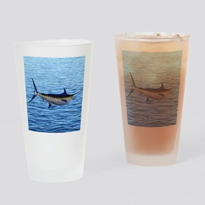 Blue Marlin on Water Drinking Glass