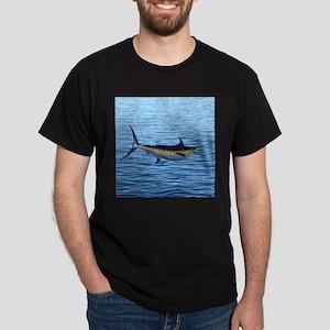 Blue Marlin on Water Dark T-Shirt