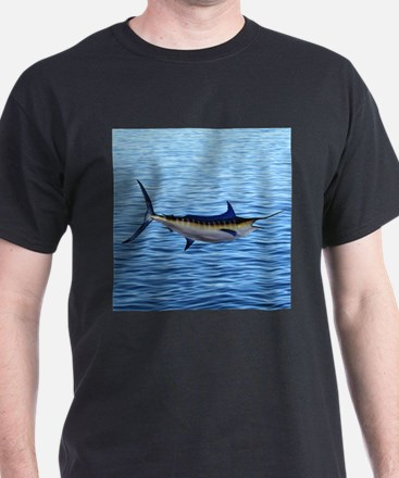 Blue Marlin on Water T-Shirt