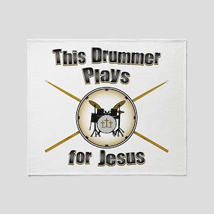 Drum for Jesus Throw Blanket